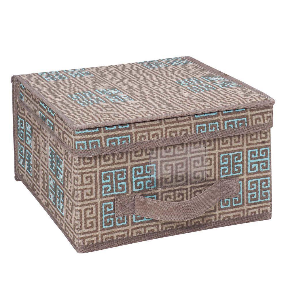 Polypropylene Medium Storage Box in Cameo Key Taupe