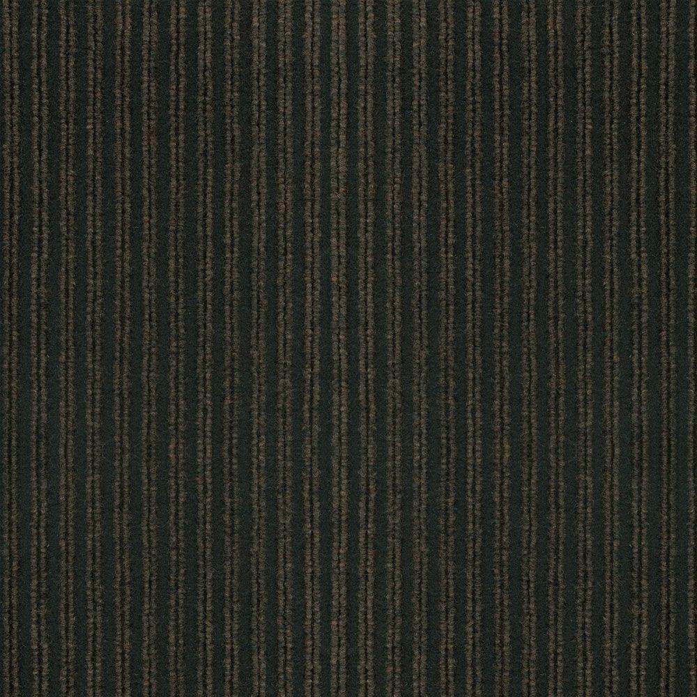TrafficMASTER Corduroy Brown/Black 18 in. x 18 in. Carpet Tiles (16 Tiles/Case)-DISCONTINUED