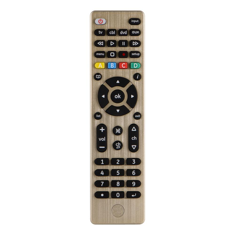 4-Device Designer Series Universal Remote Control, Brushed Champagne