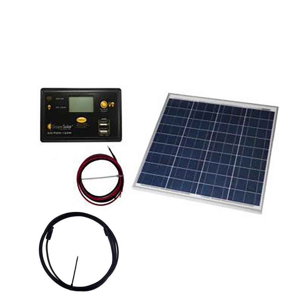 Grape Solar 50-Watt Off-Grid Solar Panel Kit