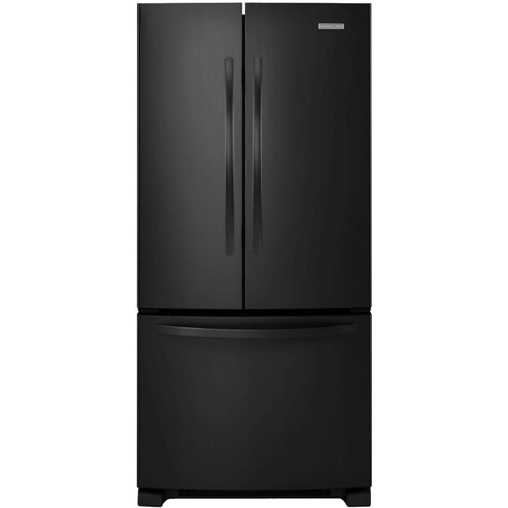 KitchenAid Architect Series II 33 in. W 22.1 cu. ft. French Door Refrigerator in Black