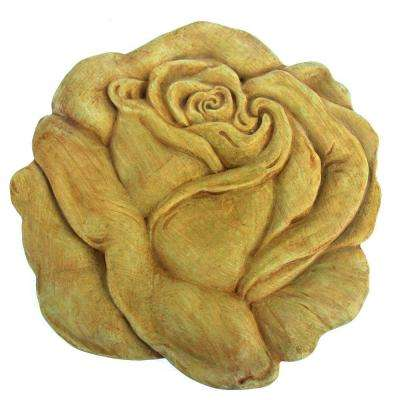 Cast Stone Rose Stepstone Weathered Bronze