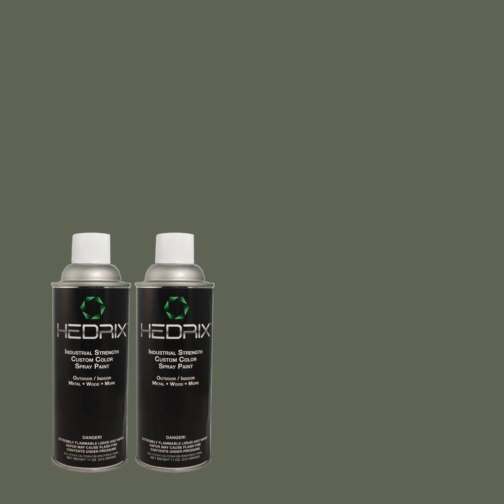 Hedrix 11 oz. Match of MQ6-9 Hostaleaf Flat Custom Spray Paint (8-Pack)