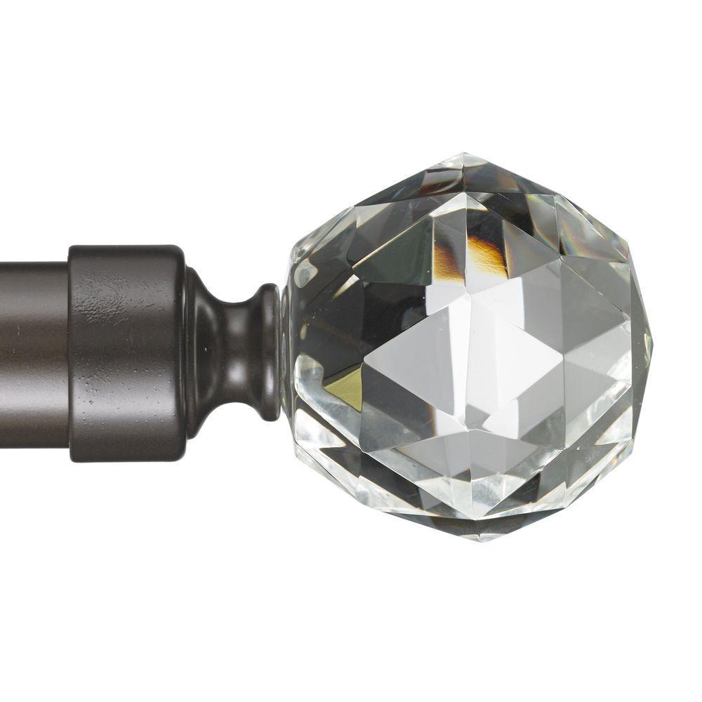 Gemstone 4 ft. Non-Telescoping Curtain Rod in Oil Rubbed Bronze