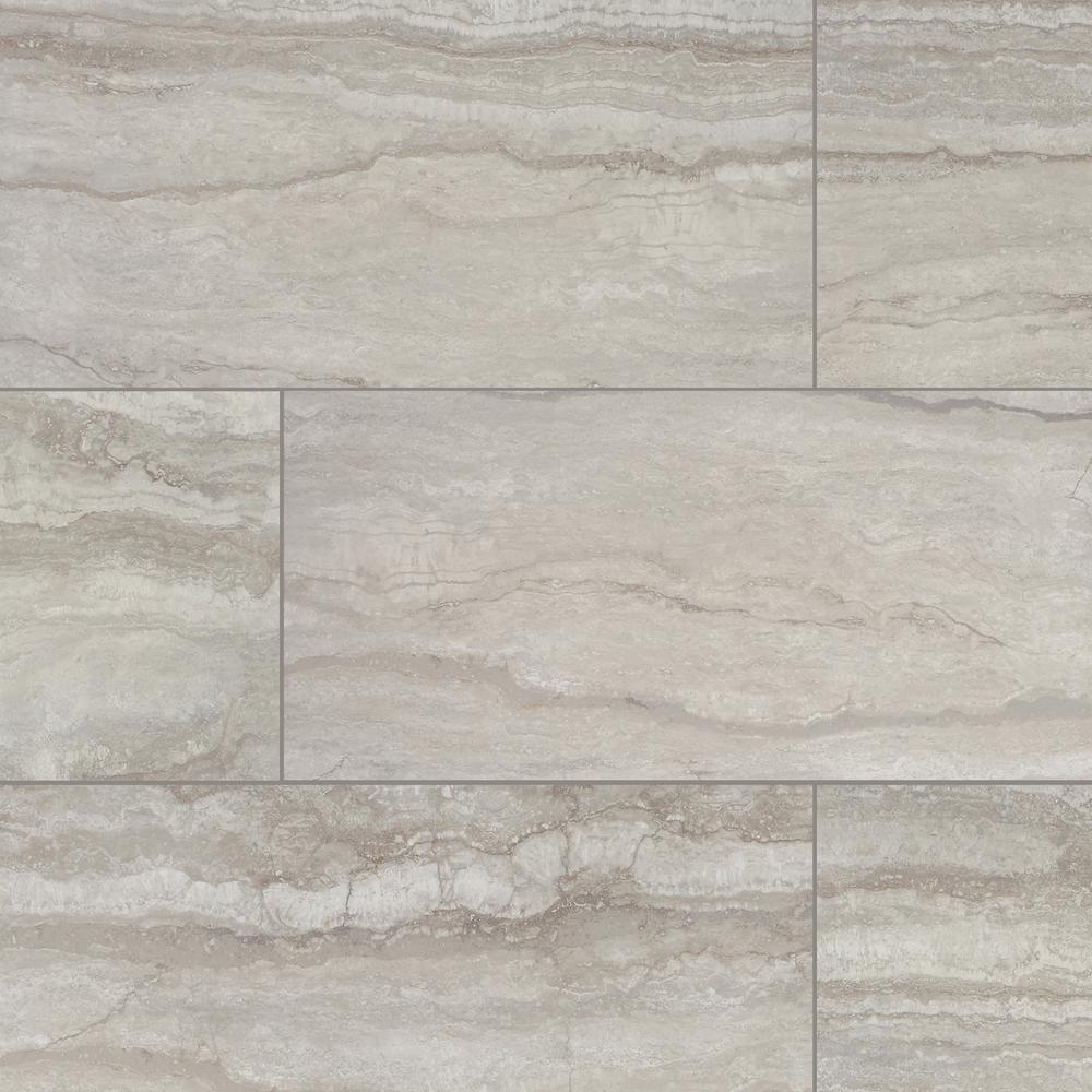 Marazzi Vettuno Greige 12 In X 24 Glazed Porcelain Floor And Wall Tile 15 6 Sq Ft Case