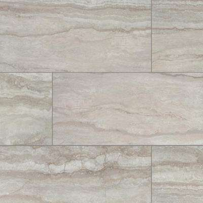Vettuno Greige 12 In X 24 Glazed Porcelain Floor And Wall Tile
