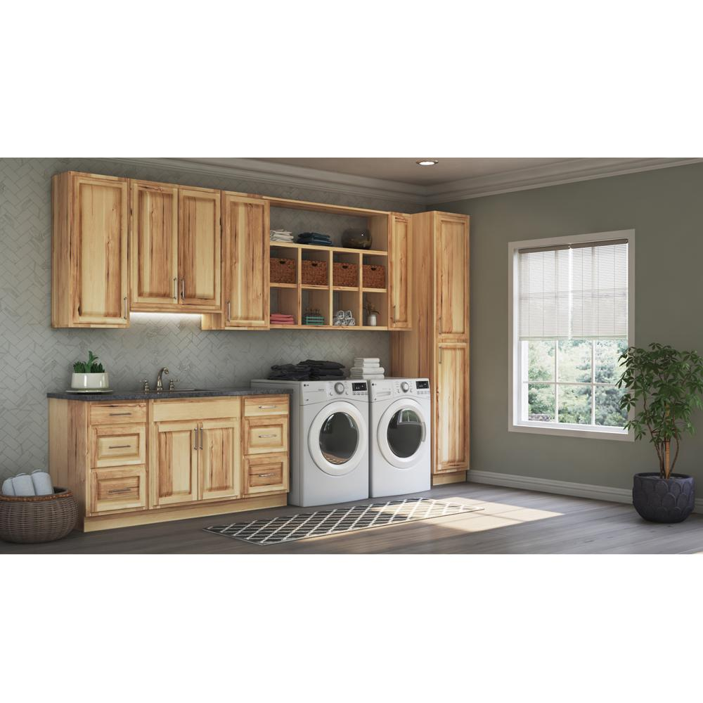 Hampton Bay 0 1875x34 5x23 25 In Matching Base Cabinet End Panel In Natural Hickory 2 Pack Kas2435 Nhk The Home Depot