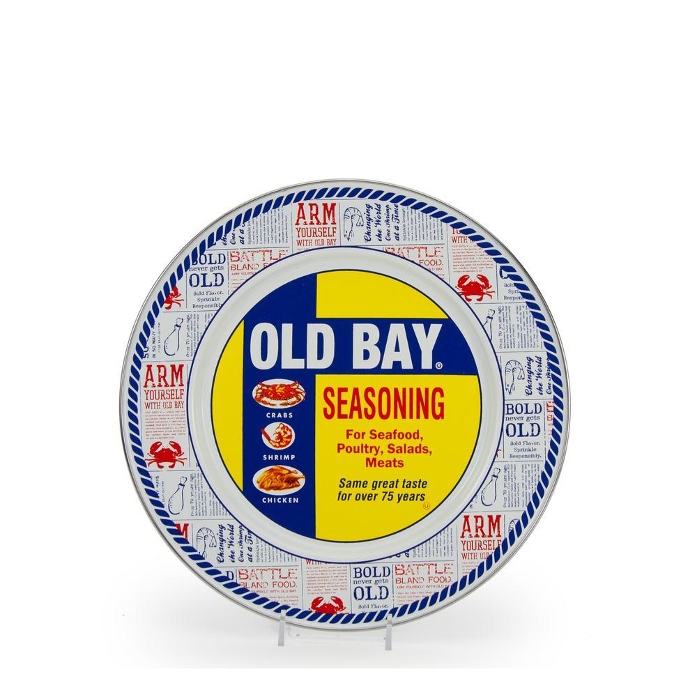 10.5 in. Old Bay Enameled Steel Round Dinner Plate