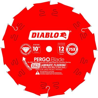 10 in. x 12-Tooth Polycrystalline Diamond (PCD) Tipped Ultimate Flooring Blade