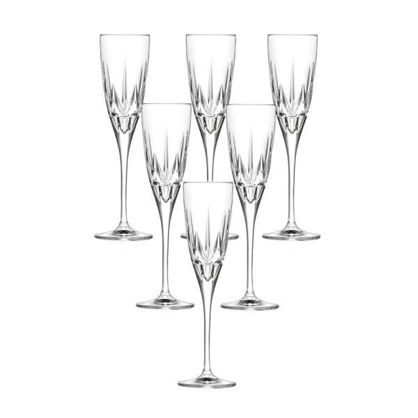 Lorren Home Trends Chic Flute Goblets By Lorren Home Trends (Set