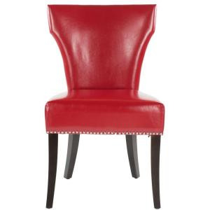 +5. Safavieh Jappic Red/Espresso Bicast Leather Side Chair ...