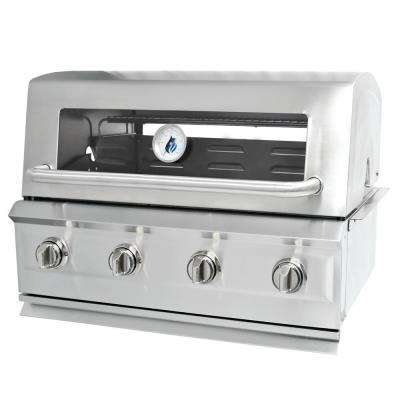 Drop-In 4-Burner Dual Fuel Grill in Stainless Steel