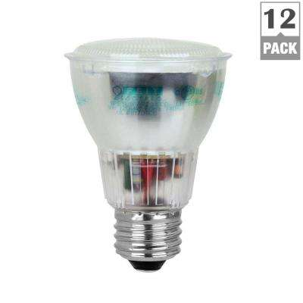 50-Watt Equivalent Bright White (3500K) PAR20 CFL Flood Light Bulb (12-Pack)