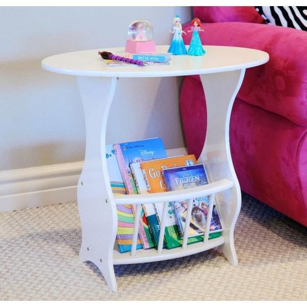 Homecraft Furniture White Storage End Table JW110A-WH