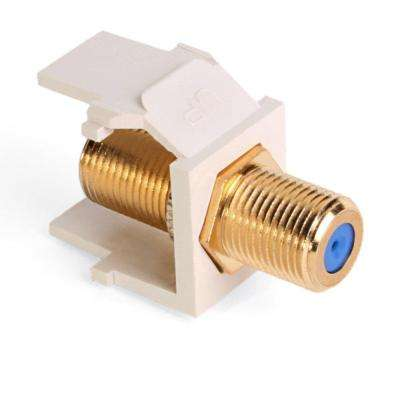 QuickPort F-Type Gold-Plated Connector Female-Female in Light Almond