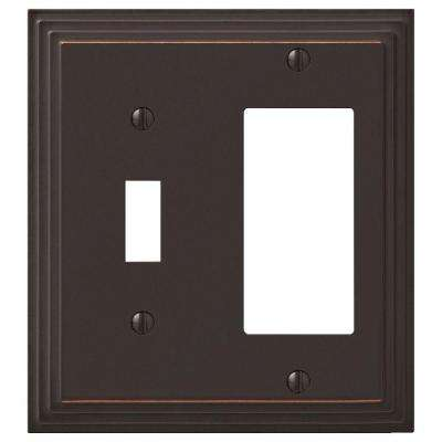 Steps 1 Toggle 1 Decora Switch Wall Plate - Aged Bronze