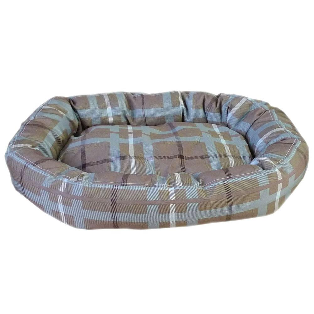 Carolina Pet Company Brutus Tuff Comfy Cup Large Blue/Brown Plaid Bed