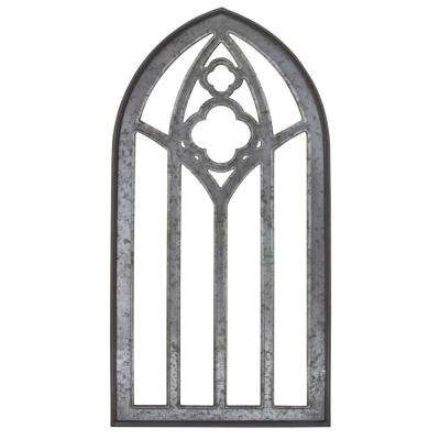 Gothic Window Arch Frame Metal Mixed Media Wall Art