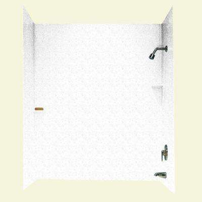 30 in. x 60 in. x 72 in. Three Piece Easy Up Adhesive Tub Wall in Arctic Granite