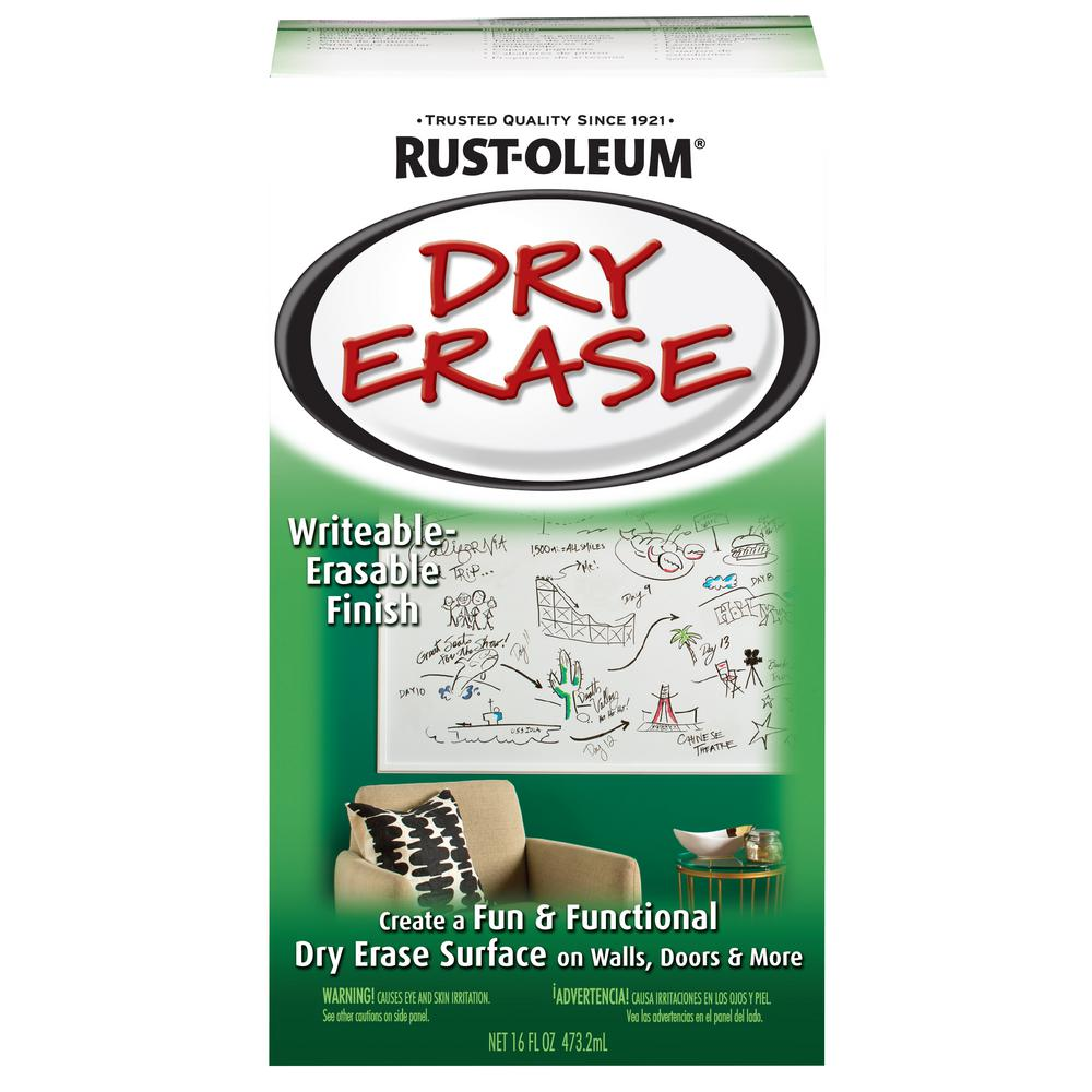 rust oleum specialty 16 oz gloss white dry erase kit 241140 the home depot. Black Bedroom Furniture Sets. Home Design Ideas