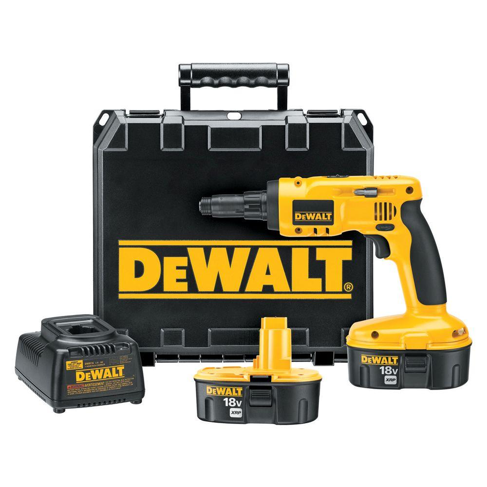 DEWALT 18-Volt XRP NiCd Cordless Steel Framing Screwdriver with (2) Batteries 2.4Ah, Charger and Case