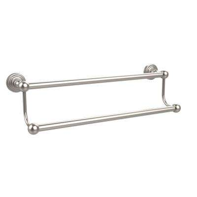 Waverly Place Collection 30 in. Double Towel Bar in Satin Nickel