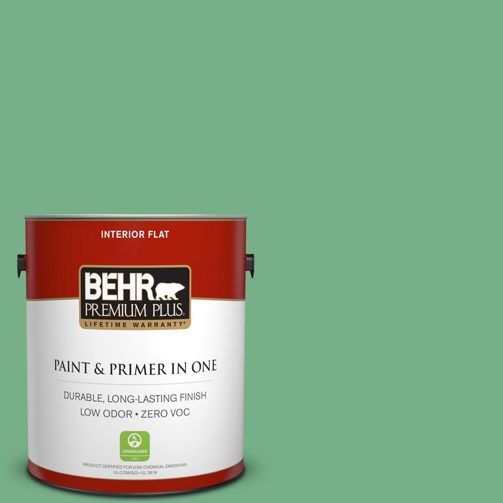 BEHR Premium Plus 1-gal. #M410-5 Green Bank Flat Interior Paint