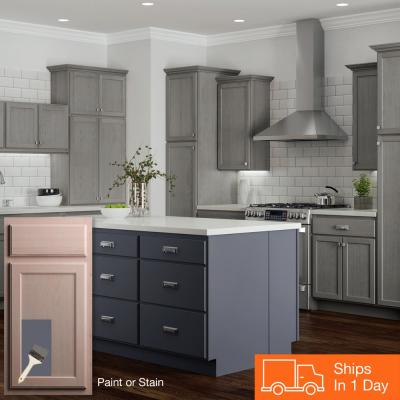 Hampton Assembled 60x34.5x24 in. Sink Base Kitchen Cabinet in Unfinished Beech