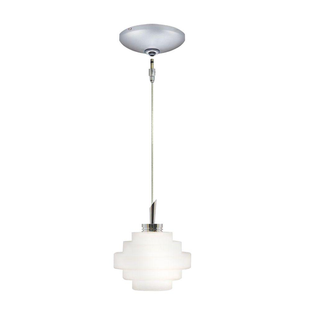 JESCO Lighting Low Voltage Quick Adapt 4 in. x 101 in. Opal Matte Pendant and Canopy Kit