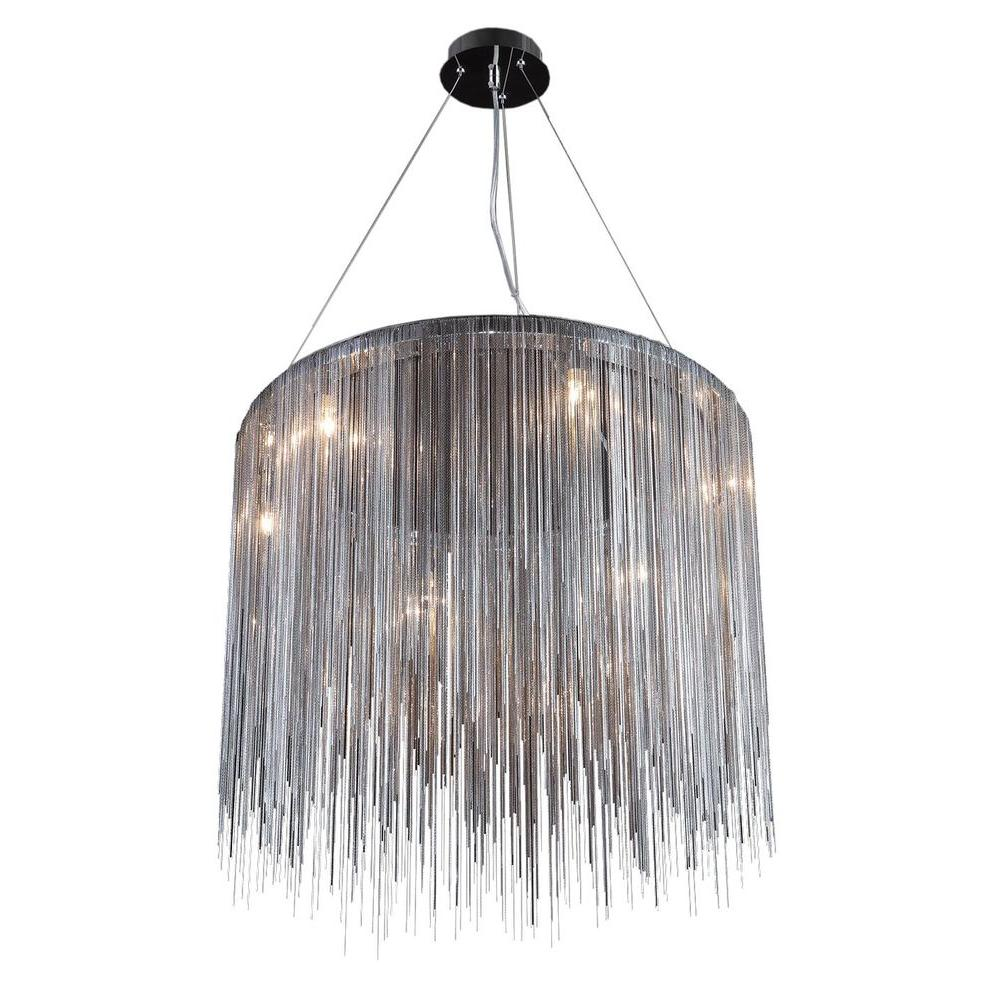 Avenue Lighting 8-Light Chrome Halogen Ceiling Pendant