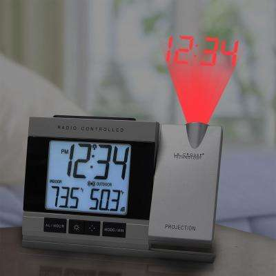Projection Gray Digital Alarm Clock with Temperature