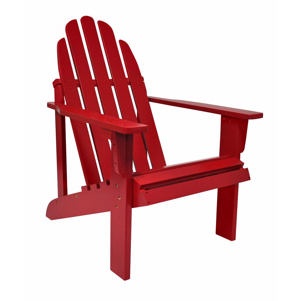 Catalina Cedar Wood Adirondack Chair - Chili Pepper