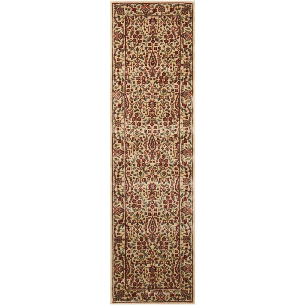 Persian Arts Ivory 2 ft. 3 in. x 12 ft. Runner
