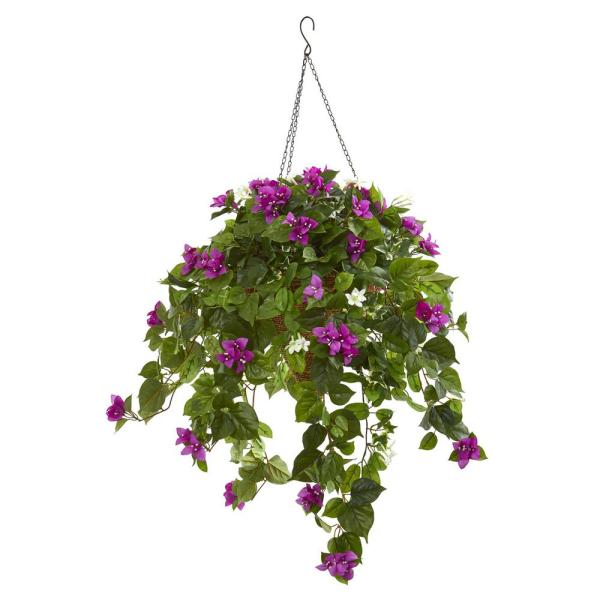 Nearly Natural Indoor 3 Mixed Stephanotis and Bougainvillea Artificial Plant in