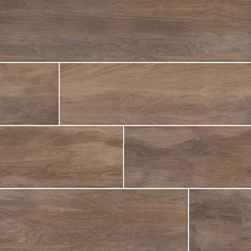 Springwood Rose 8 in. x 48 in. Matte Porcelain Floor and Wall Tile (10.66 sq. ft. / case)
