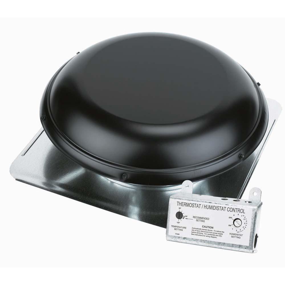 Air Vent 1500 Cfm Black Power Roof Mount Attic Ventilator