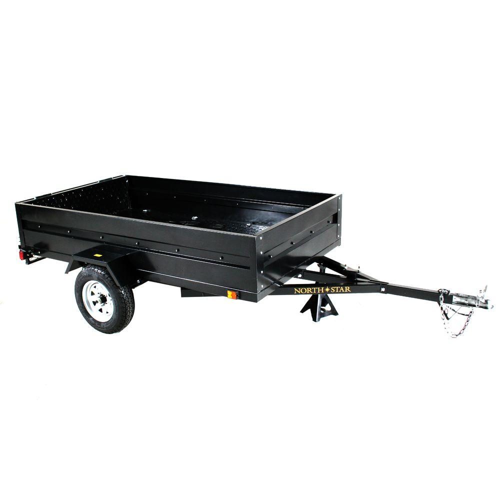 Multistar 4 5 Ft X 8 Ft Utility Trailer Kit With Rear Loading Ramp Ml The Home Depot