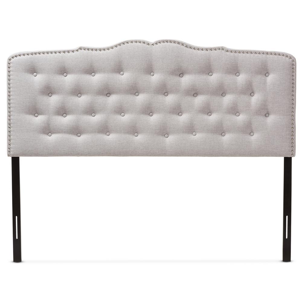 Lucy Greyish Beige Fabric Upholstered King Size Headboard