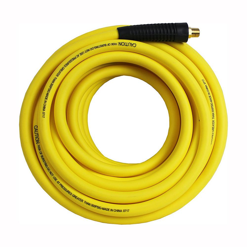 Hybrid Polymer Air Hose 3 8 In X 100 Ft Lightweight All Weather No Memory Non Kinking 300 Psi Maximum