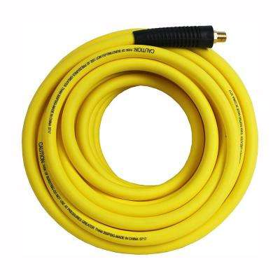 Hybrid Polymer Air Hose, 3/8 in. x 100 ft. Lightweight All Weather No-Memory Non-Kinking 300 PSI Maximum