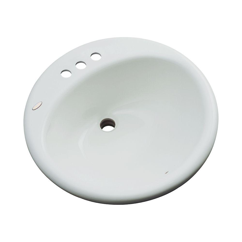 Clarington Drop-In Bathroom Sink in Sterling Silver