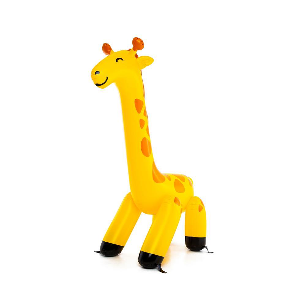 9 ft. Tall Yellow and Orange Vinyl Inflatable Giraffe Yard Sprinkler