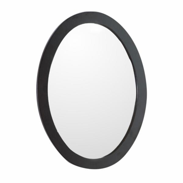 Lazio 22 in. W x 28 in. H Framed Oval Bathroom Vanity Mirror in Espresso