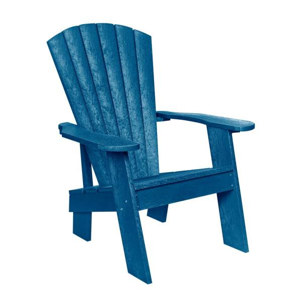 Capterra Casual Pacific Blue Recycled Plastic Adirondack Chair