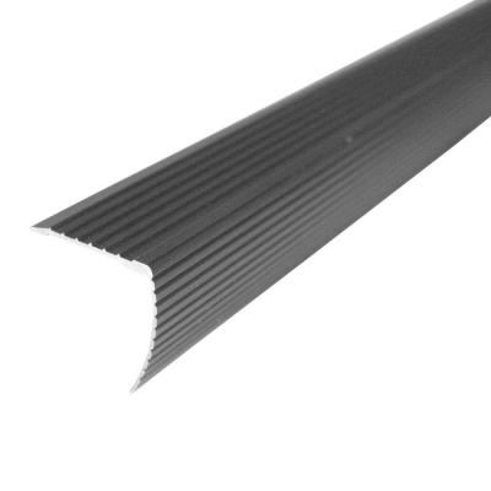 Cinch 1.22 in. x 36 in. Satin Nickel Fluted Stair Edging Transition Strip