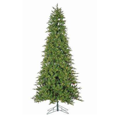 9 ft. Pre-lit Natural Cut Artificial Dover Pine Christmas Tree with Power Pole