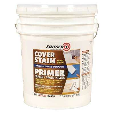 Cover Stain 5 gal. White Water-Based Interior/Exterior Primer and Sealer