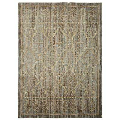 Salina Silver 9 ft. 6 in. x 12 ft. 11 in. Indoor/Outdoor Area Rug