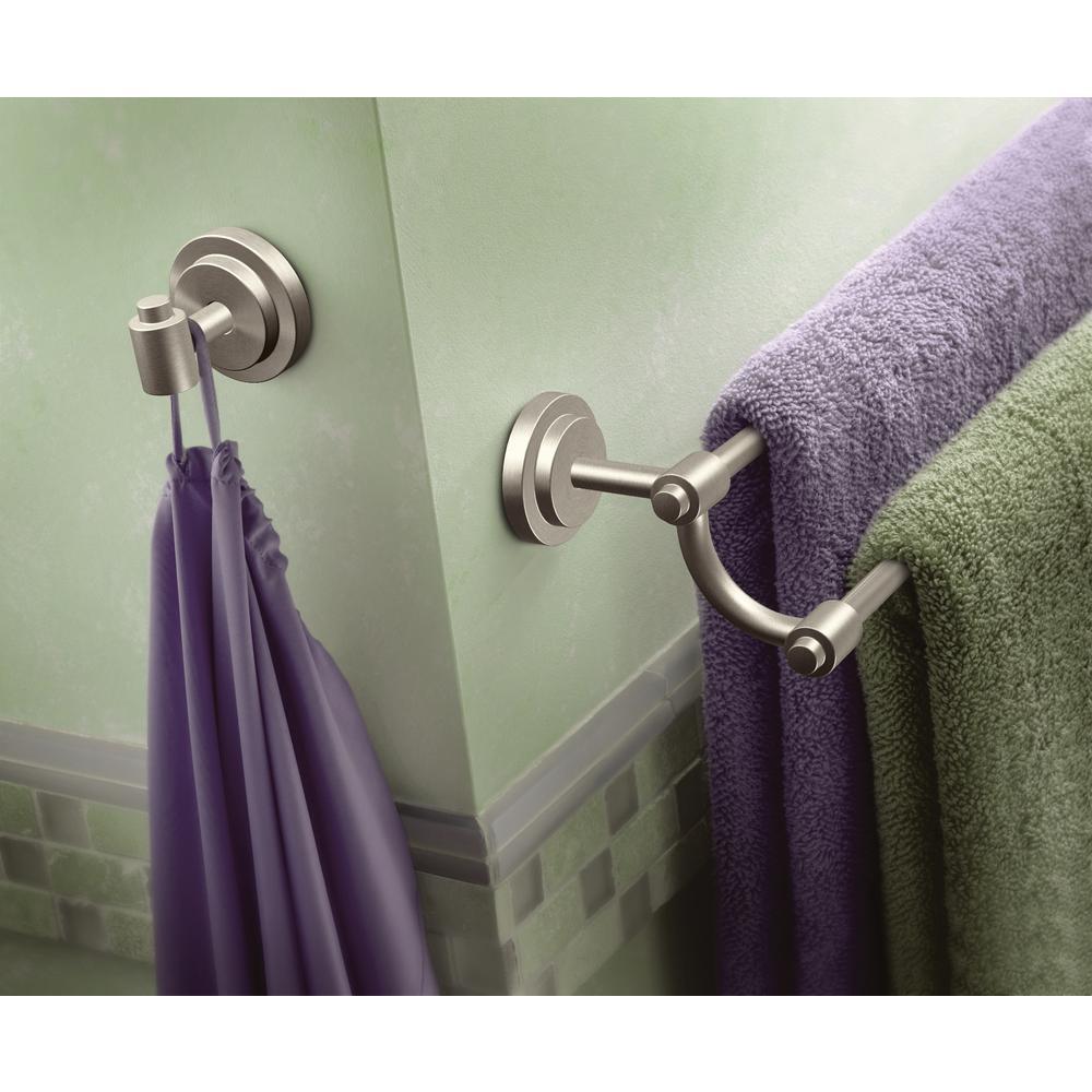 ISO 24 in. Double Towel Bar in Spot Resist Brushed Nickel