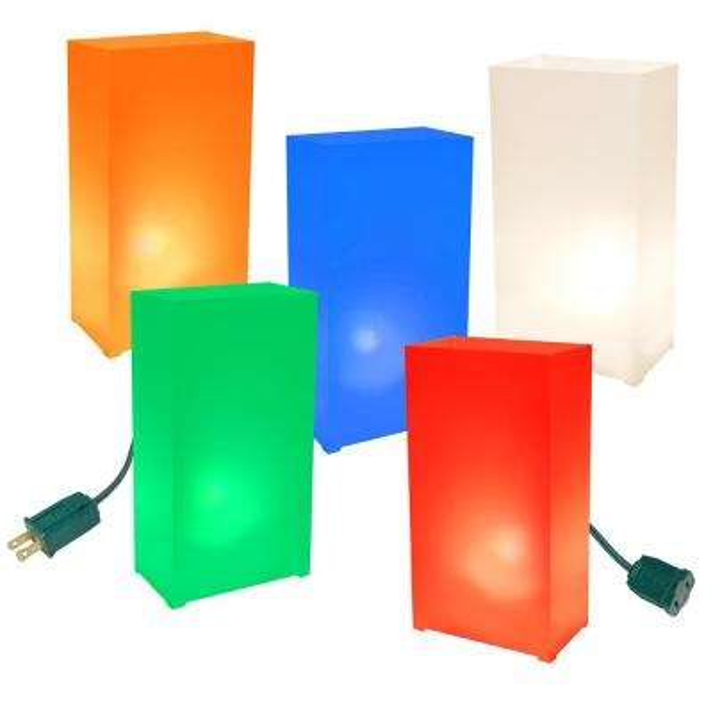 Multi-Color Electric Luminaria Kit (Set of 10)